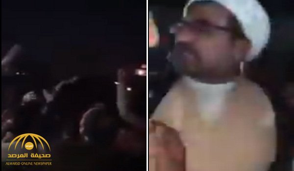 شاهد.. متظاهرون عراقيون يحرجون «معمماً إيرانياً» ويطالبونه بالخروج من البصرة