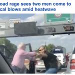 """مضاربة عنيفة  على أحد الطرق بلندن .. شاهد .. سائق """"مسن"""" يباغت الآخر بلكمة خاطفة!"""