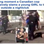 شاهد..  مضاربة خارج ملهى ليلي في كندا وحارسه يتدخل بقوة.. وهذا ما حدث لفتاة؟