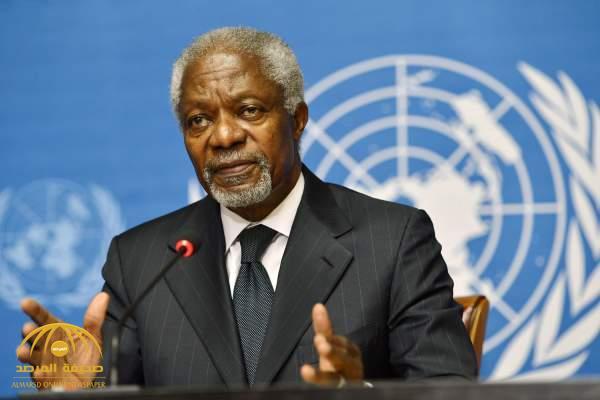 وفاة الأمين العام السابق للأمم المتحدة كوفي عنان
