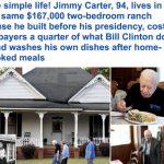 """شاهد .. الرئيس الأمريكي السابق """"جيمي كارتر"""" في عمر الـ 94 يعيش حياة مختلفة عن كافة الرؤساء السابقين"""