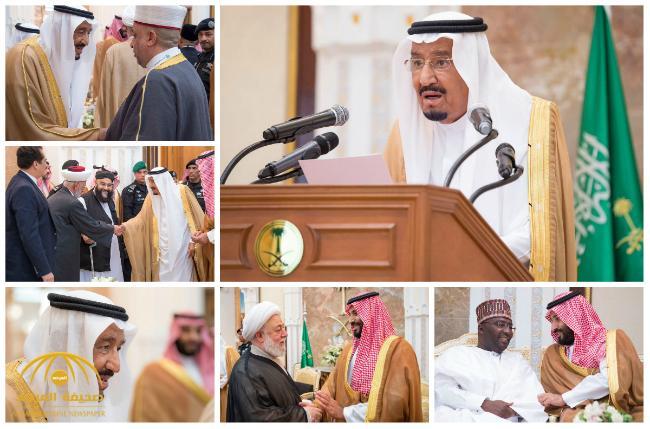 بالصور و الفيديو : خادم الحرمين يقيم حفل الاستقبال السنوي لأصحاب الفخامة والدولة وكبار الشخصيات الإسلامية