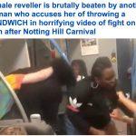 شاهد: امرأة تصفع فتاة وتسقطها أرضًا وتوجه إليها عدة لكمات على متن قطار متجه للندن!