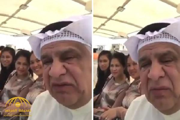 شاهد.. كويتي يحتفل بالعيد مع خادمات منزله !