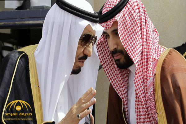 """شاهد .. صورة تاريخية للملك سلمان وبرفقته ولي العهد """"محمد بن سلمان"""" بعمر 14عاما"""