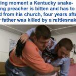 """""""واعظ"""" يتحدى أفعى داخل """"الكنيسة"""" بأمريكا في ذكرى وفاة والده باللدغ.. وكانت النهاية صادمة"""