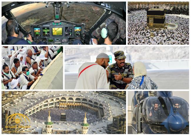 من الجو وأمام الجمرات .. شاهد .. 25 صورة جديدة لحجاج مكة من قلب المشاعر المقدسة