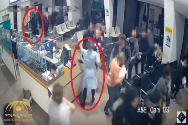 """شاهد: مسلح """"متوحش"""" يهاجم المرضى داخل مستشفى في بريطانيا.. وهكذا تعاملت معه ممرضة شجاعة!"""