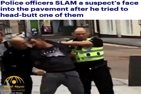 شاهد .. مطلوب أمني ينطح شرطي في اسكتلندا فيلقى عقاباً قاسياً