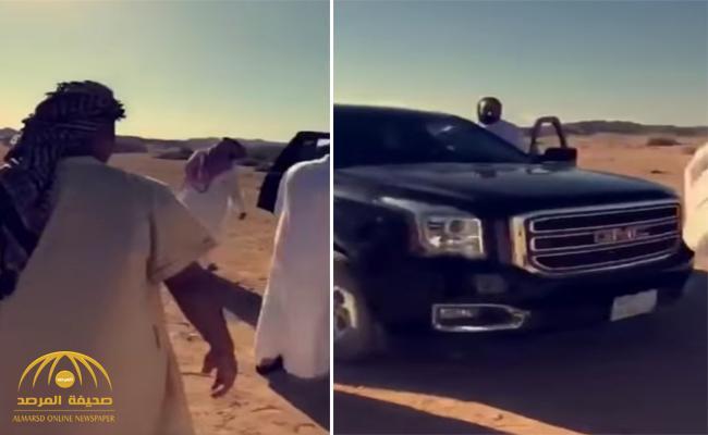 """بالصورة : شاهد  من كان مع  """"ولي العهد """" في صحراء نيوم !"""