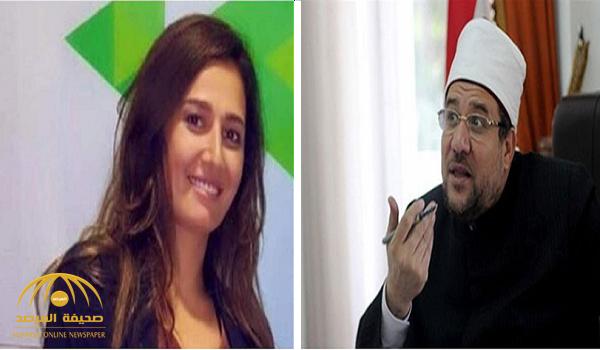 """فيديو.. أول تعليق من وزير الأوقاف المصري على خلع الممثلة """"حلا شيحة"""" للنقاب.. وهذا ما قاله عن إكراه الناس على الدين!"""