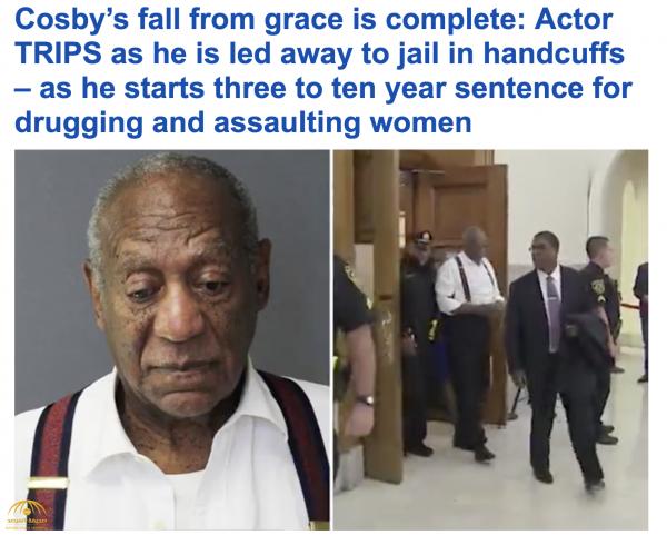 متهم باغتصاب أكثر من 60 امرأة .. شاهد .. ممثل أمريكي شهير مكبل اليدين يواجه حكما بالسجن 10 سنوات