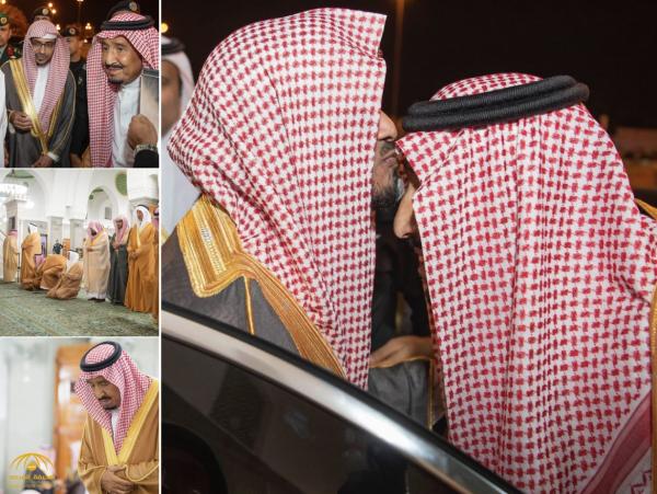 شاهد بالصور: لحظة وصول خادم الحرمين لمسجد قباء بالمدينة