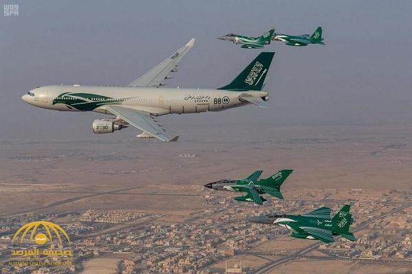 """بعد جدة .. شاهد ..  عرض لمقاتلات """" التايفون والتورنيدو"""" في سماء الرياض"""