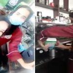 """شاهد : فتاة سعودية تعمل في مقهى بالدمام .. وهكذا ردت على عضوة شورى سألتها : """"كيف الشغل؟"""""""