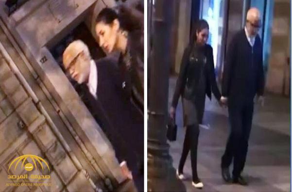 """شاهد.. مسؤول """"مغربي"""" ينتمي لحزب إسلامي يتجول في باريس ترافقه فتاة بدون حجاب!"""