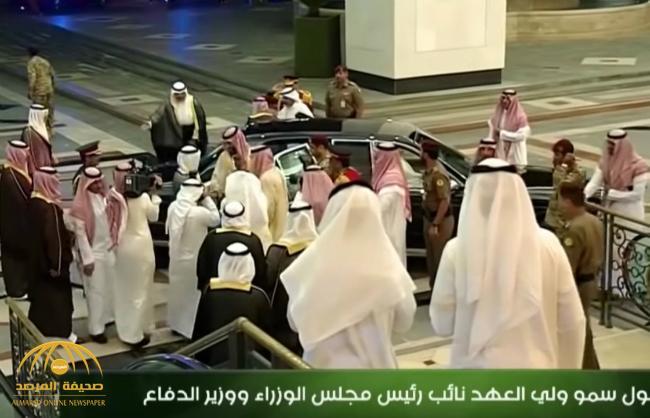 """شاهد بالصور والفيديو .. لحظة استقبال أمير الكويت لـ""""ولي العهد"""" محمد بن سلمان في قصر بيان"""