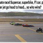شاهد .. دراجة نارية تسبق طائرة f16 في مسابقة بمطار تركيا !