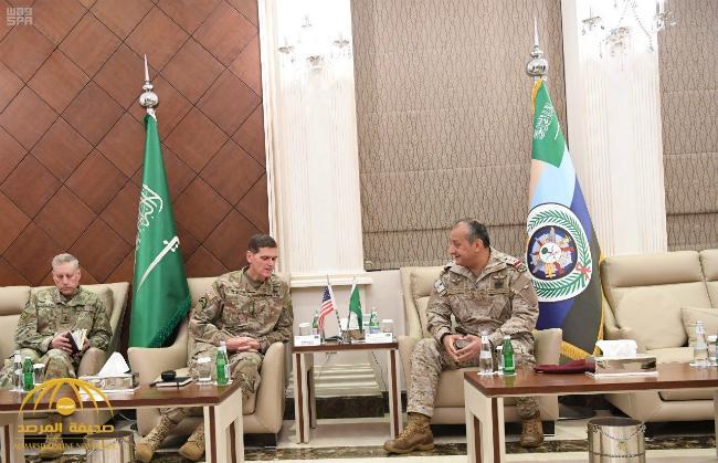 بالصور : قائد القوات المشتركة يستقبل قائد القيادة المركزية الأمريكية