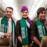 """شاهد .. كيف احتفل طيران """"الاتحاد الإماراتي"""" باليوم الوطني السعودي 88 !"""