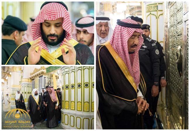 شاهد  بالصور .. خادم الحرمين الشريفين يزور المسجد النبوي