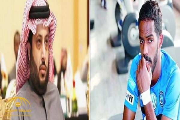 بعد أنباء انتقاله للشباب.. تركي آل الشيخ يوجه رسالة لنواف العابد.. واللاعب يرد!