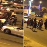 """بالفيديو: تحرش و تجمهر ينتهيان بمضاربة فتيات و شباب بمتنزه """"مطل البلدية"""" بمحايل"""
