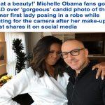 """شاهد صورة شخصية  لـ""""ميشيل أوباما"""" أثناء احتضان خبير تجميلها !"""