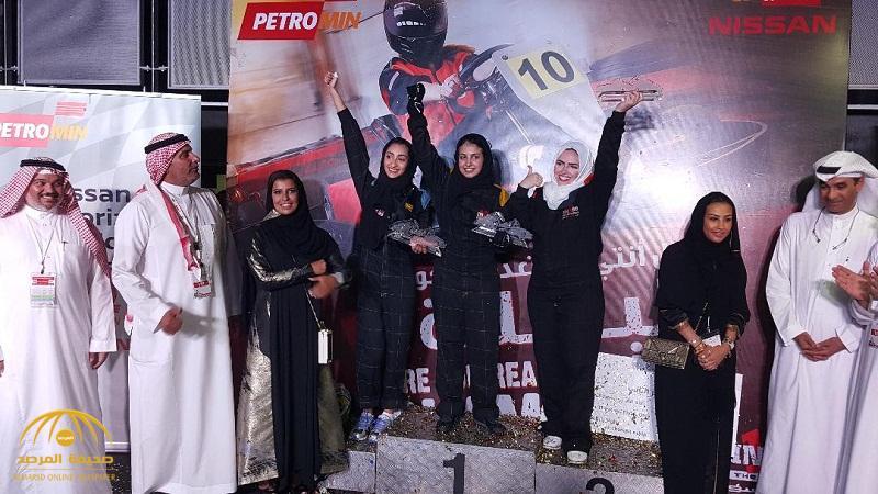 """بالصور """"أمجاد العمري"""" أول سائقة سعودية تفوز بسباق """"كارتينغ"""" .. وهذه رسالتها إلى السعوديات"""