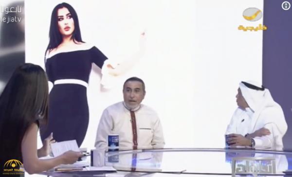 """فيديو: مصمم أزياء """"سعودي """" يتجاهل معرفته بالعارضة خولة العنزي والمودل روز .. ونادين البدير :مو عاجبك العجب!"""