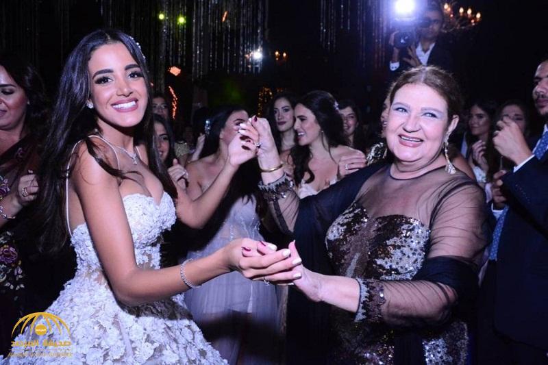 بالصور: ميمي جمال تحتفل بزفاف حفيدتها وهيفاء وهبي تشعل الحفلة بالغناء والرقص