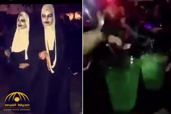 """شاهد: تنظيم حفل  في """"الثمامة"""" مقابل مبالغ مالية واستخدام أقنعة وأزياء غريبة !"""