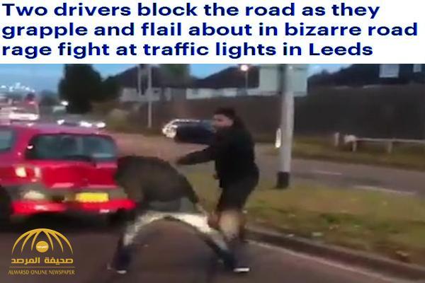 شاهد .. معركة بين سائقين على طريق سريع في بريطانيا