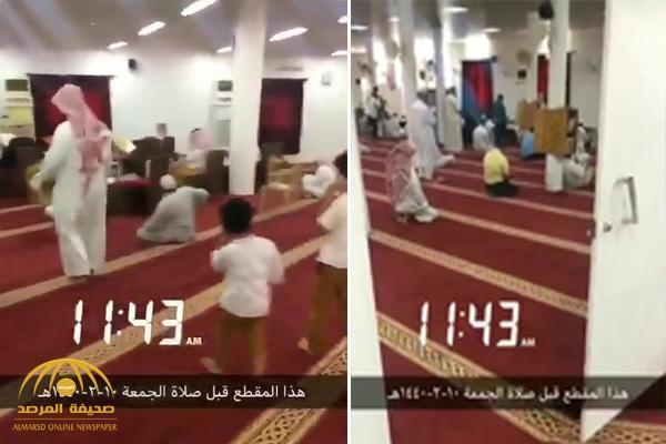 شاهد .. اتجاهين للقبلة داخل مسجد في حفر الباطن !