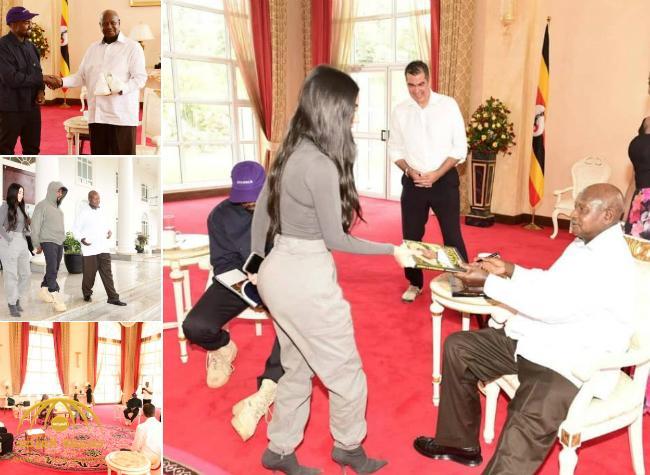 موقف محرج للغاية تتعرض له كيم كاردشيان في ضيافة الرئيس الأوغندي – صور