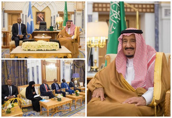 بالصور : خادم الحرمين يستقبل رئيس مجلس الوزراء الصومالي