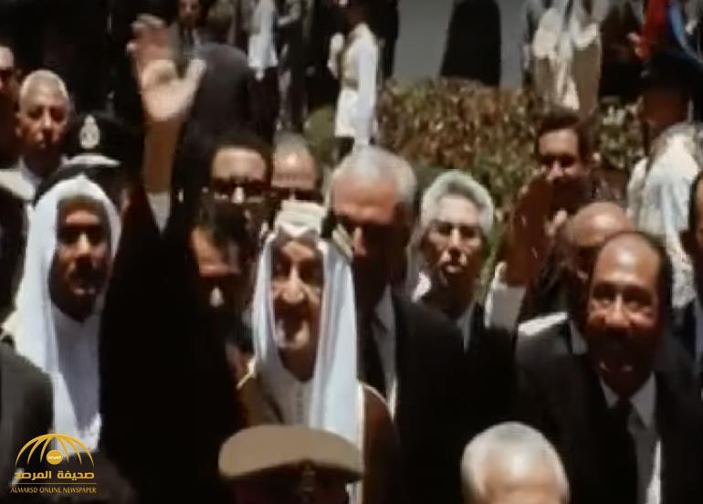 بمناسبة ذكرى حرب 6 أكتوبر.. شاهد: فيديو نادر من زيارة الملك فيصل لمصر عقب النصر!