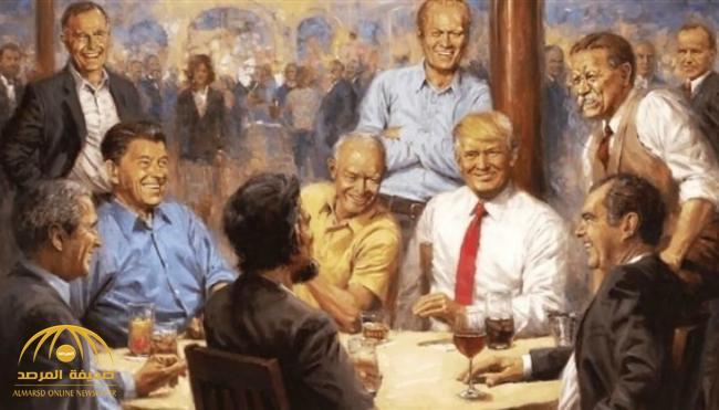 «ترامب» يفاجئ المكتبة الفنية بالبيت الأبيض بصورة وصُفت بـ«المبتذلة» .. ومضمونها يثير انتقادات واسعة
