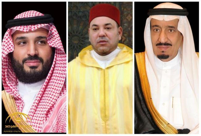 """خادم الحرمين وولي العهد يبعثان برقيتي عزاء ومواساة لـ""""ملك المغرب"""""""