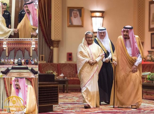 بالصور .. خادم الحرمين يستقبل رئيسة وزراء بنجلاديش ويقيم مأدبة غداء تكريمًا لها ويعقد معها جلسة مباحثات رسمية