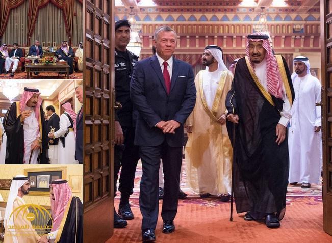 بالصور .. خادم الحرمين يستقبل ملك الأردن والشيخ محمد بن راشد وعدد من المسؤولين ويقيم مأدبة غداء لهم