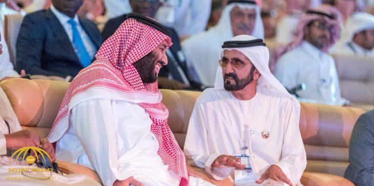 """محمد بن راشد يهدي محمد بن سلمان قصيدة شعرية بعنوان """"يا جبل ما يهزك ريح"""""""
