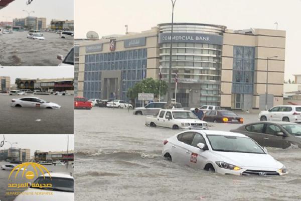 شاهد.. أمطار غزيرة تغرق شوارع قطر!