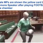 ترجمة حصرية .. شاهد: نائبات في مجلس النواب الإسكتلندي يستعرضن مهاراتهن الكروية داخل قاعة عقد الجلسات