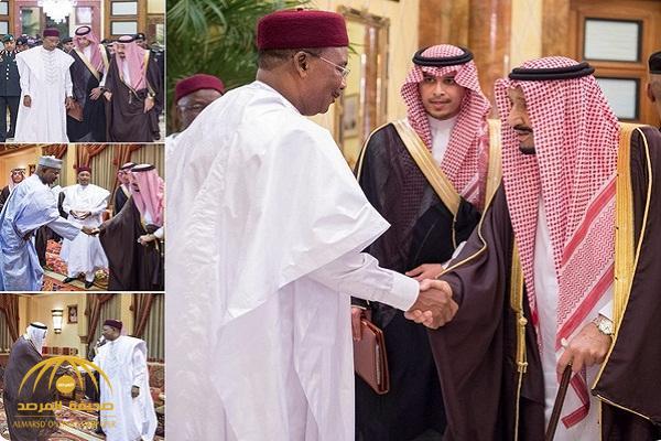 بالصور.. خادم الحرمين يستقبل رئيس جمهورية النيجر ويقيم مأدبة غداء تكريماً له