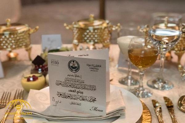 """تعرف على أنواع المأكولات التي قدمها أهالي حائل لـ""""الملك سلمان وولي العهد"""" على مأدبة العشاء!"""