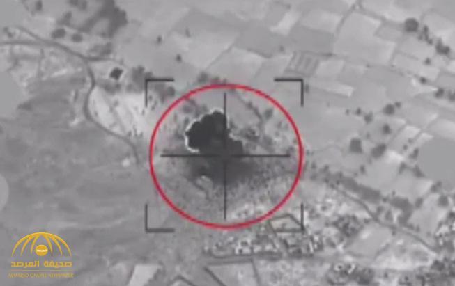 شاهد .. لحظة تدمير التحالف لمنصة صواريخ في صعدة قبل إطلاق صاروخ باليستي باتجاه المملكة