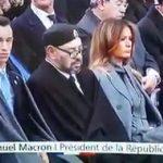شاهد ردة فعل ترامب بعدما رأى العاهل المغربي يغفو في الاحتفال بمئوية الحرب العالمية