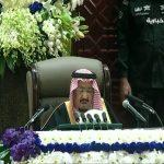 """بالفيديو .. الملك سلمان : """"هذه البلاد لن تحيد عن تطبيق شرع الله ولن تأخذها في الحق لومة لائم"""""""