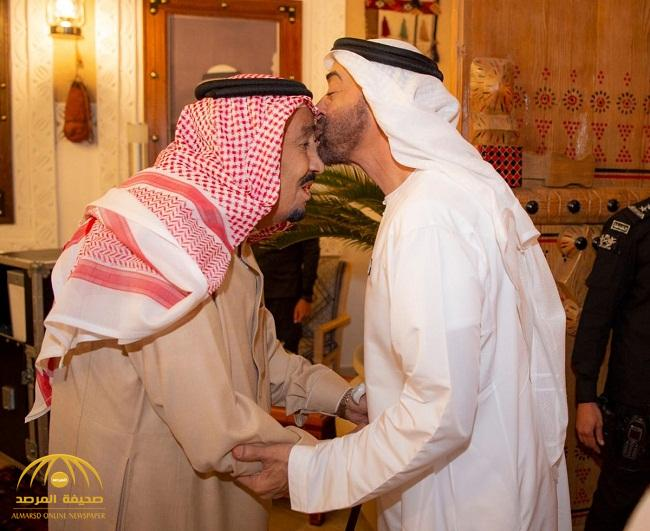 بالصور: خادم الحرمين يستقبل ولي عهد أبوظبي في قصر العوجا بالدرعية